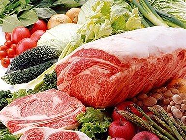 肉と野菜のセットのイメージ